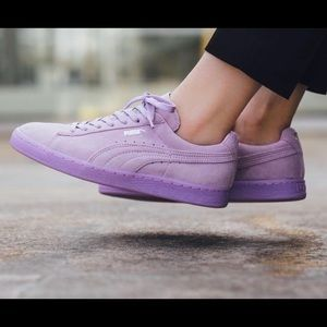 Puma Lilac suede sneakers size 8/8.5 women